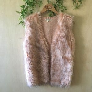 New Love on a Hanger Faux Fur Vest